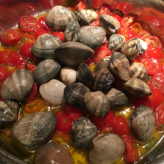 Adding the clams